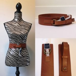 NWT GAP Leather belt in cognac color